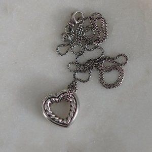David Yurman Cable Heart Necklace